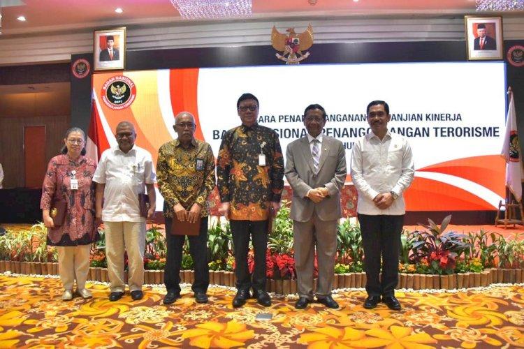 Tekad Wujudkan Good Governance dan Stabilitas Keamanan Nasional, Jajaran BNPT Tandatangani Perjanjian Kinerja 2020