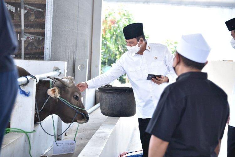 Pererat Silaturahmi Dengan Warga Sekitar, BNPT Sembelih Hewan Kurban Dalam Perayaan Idul Adha 1442 H