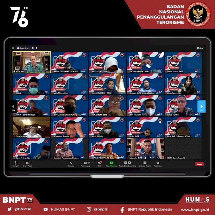 "Sambut HUT Ke-76 Republik Indonesia, BNPT Gelar Dialog Kebangsaan ""Warung NKRI"" Bela Rakyat, Bela Bangsa Dan Bela Negara"