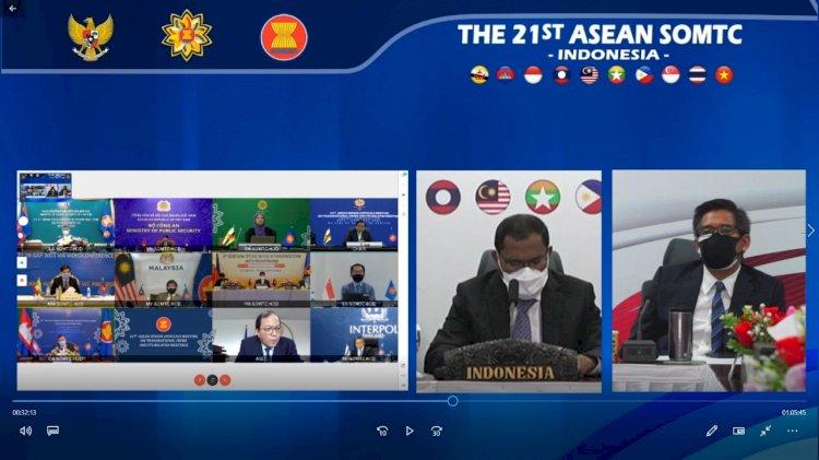 Hadiri SOMTC, Deputi Kerjasama Internasional BNPT Bahas Tiga Isu Penting Kerjasama Negara ASEAN Selama Pandemi