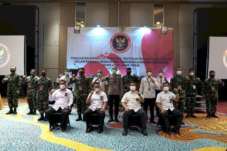 Tanggulangi Terorisme, BNPT Kuatkan Kapasitas Personel TNI-Polri dan Instansi Terkait di Wilayah Jawa Timur